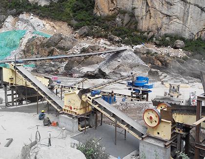 河南三门峡河卵石制砂生产线