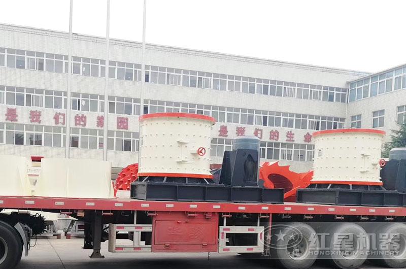 复合式破碎机市场需求大——设备发货现场